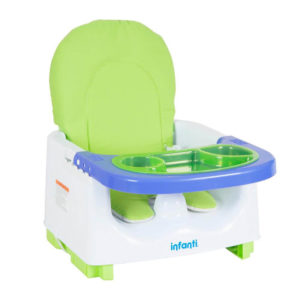 booster comer plegable infanti bebe verde