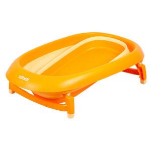 bañera plegable infanti bebe naranja