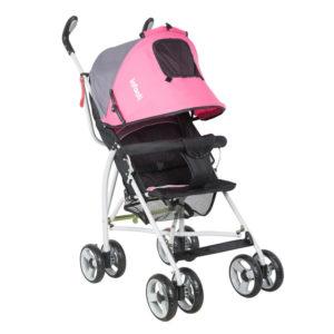 cochecito paraguitas bebe infanti spin rosa