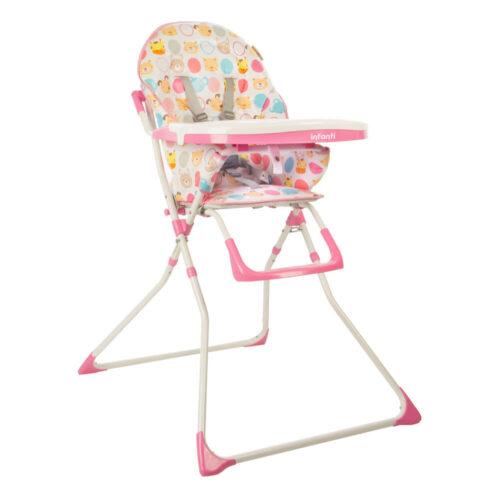 silla de comer bebe candy infanti rosa